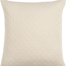 Eastern Accents - Briseyda Matelasse Polyester Dec Pillow - Introduce your bed to the breezy elegance of 100% cotton European matelasse with Briseyda. Available in four warm tones, this clean program has the lofty dimension and varied textured of the most luxurious matelasse. Completely machine washable, these items become even softer with time and are perfect as an option for cross-merchandising with most styles of Eastern Accents bedding. Please note that Briseyda, as with most products made of natural fibers, has a tendency to shrink. We account for the shrinkage by making the products a little larger than our published sizes, so please wash your new Briseyda item before using it. For best result, we recommend warm water using a front-loading machine and mild detergent. Tumble dry low or line dry. Features: -Collection: Briseyda Matelasse. -100% Cotton European matelasse. -High quality down pillow insert. -Envelope closure for easy care. -Care Instructions: If soiled or stained, down comforters and pillows can be spot cleaned with a damp cloth and mild soap. For the cleaning of down comforters and pillows, we recommend laundering rather than dry cleaning. Laundering rejuvenates the lofting quality of down, making comforters and pillows full, fluffier, and fresh smelling. You may wash down items in a front-loading, extra capacity washer (the kind used by professional laundries) using a mild detergent in warm water. Do not use top-loading washing machines as the agitation may damage the delicate cotton cover. Some modest shrinkage or wrinkling may result from washing but will not be visible once the comforter is in a duvet cover. Down comforters and pillows dry best in the sun. Spread them out on a sheet on grass or on a deck, and shake them vigorously from time to time while drying. You may also tumble dry in a dryer set on medium heat. Remove every hour and fluff. Placing a few tennis balls in the dryer will facilitate the drying. Be certain your down comforters 