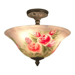 Dale Tiffany - New Dale Tiffany 3-Light Ceiling Fixture - Product Details