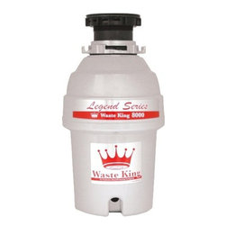 Waste King - 1 HP, Heavy Duty, Insul. 2600 RPM, Corros.Resist. Lifetime Warranty, Cord Includ - The Waste King 8000 Legend Series 1-HP EZ-Mount Sound Insulated Garbage Disposer is one of the best food disposers on the market. With a high-speed 2800 r.p.m. Vortex powered permanent magnet motor, this disposer can efficiently get rid of your food waste. It includes a removable splash guard that aids in internal inspection and can be easily cleaned. It is also septic safe for properly sized septic tanks, making it environmentally friendly. The fast and easy mount system provides a no-hassle installation and is suitable for dishwasher hookup.Sound insulated, continuous feed garbage disposer