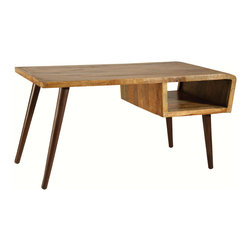 Stein World - Stein World Orbit Wood Desk - Bridging old and new the stylish Orbit desk combines the up cycled look of reclaimed wood with a bold hand-painted finish and timeless elements of mid-century modern design.