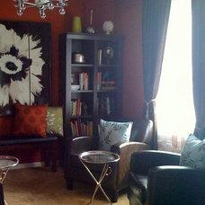 Contemporary Living Room by Shoshana Gosselin