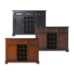 Crosley - Crosley Alexandria Buffet Server/Sideboard Cabinet - Crosley Alexandria Buffet Server/Sideboard Cabinet is constructed of solid hardwood and wood veneers. This Buffet Server / Sideboard Cabinet is designed for longevity.