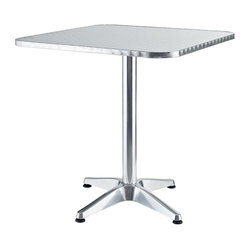 Strata Modern Square Aluminum Indoor/Outdoor Table