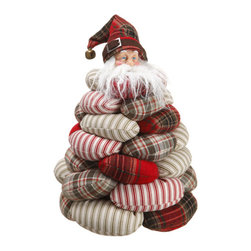 Silk Plants Direct - Silk Plants Direct Plaid and Stripe Bean Bag Santa (Pack of 2) - Silk Plants Direct specializes in manufacturing, design and supply of the most life-like, premium quality artificial plants, trees, flowers, arrangements, topiaries and containers for home, office and commercial use. Our Plaid and Stripe Bean Bag Santa includes the following: