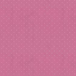 Wallpaper Worldwide - Hero - Dots Wallpaper, White, Pink - Material: Paper