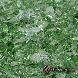 """Finishing Touch Products - 1 Pound Bag of 1/4"""" Rainforest Green Fireglass - Contains: 1 LB Bag"""