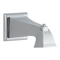 Delta Tub Spout - Non-Diverter - RP54323 - The clean lines and dramatic geometric forms of the Dryden Bath Collection are based on style cues from the Art Deco period.