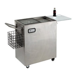 Avanti - Avanti 2.4 Cu. Ft. Outdoor Beverage Cart Stainless Steel - 2.5 Cu. Ft. Capacity Beverage Cart