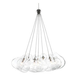 Tech Lighting - Sonneman | Ringlo 12 Inch LED Pendant Light - The unique Cheer pendant, available with one or seven elements, features elements with a clear glass shade and fused center tube. Each element includes six feet of filed-cuttable suspension cable. Provides ambient and decorative illumination.Choosing your connector: