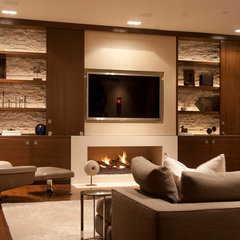 contemporary family room by Toro-Lombardo Design Build