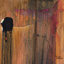 Anicent Scripture (Original) by Patrick Trotter - Fine Art print of oil painting by patrick trotter from the,  Native American Spirit, Drip painting collection, 22  in the collection ,the drip painting technique that gives a inspiriational symbolism of the Native American strong connection between nature andspirituality