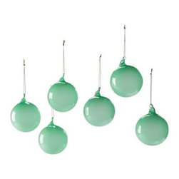 Serena & Lily - Glass Globes  Jade (Small, Set of 6) - Create a festive air with glass spheres in different sizes and hues. Lay them on the mantel, arrange them in a bowl, sprinkle them into your holiday décor. The more, the merrier. Choose from a palette that's cheerful, vibrant, and fresh.