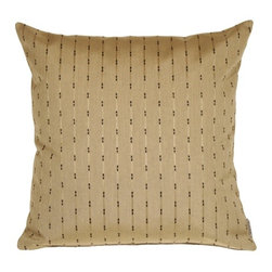 Pillow Decor - Pillow Decor - Sunbrella Renata Hemp 20 x 20 Outdoor Pillow - Renata Hemp patterned outdoor fabric by Sunbrella. Warm and earthy toned neutral color scheme that softens up your wrought iron outdoor furniture. Mixes effortlessly with the other pillows in the series. A great hostess gift for the cottage!