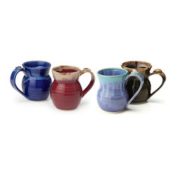 Contemporary Ceramic Handmade Mugs - Set Of 4 - The caffeinated contents of your morning mug seem to possess supernatural empowering properties. Imagine how those powers could be multiplied if your mug itself was a bit magical.