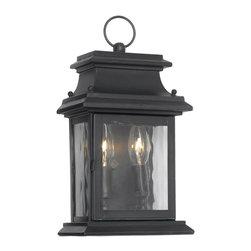 Joshua Marshal - Two Light Charcoal Wall Lantern - Two Light Charcoal Wall Lantern
