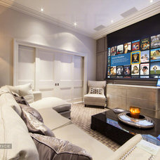 Contemporary Home Theater by The Design Practice by UBER