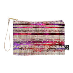 DENY Designs - DENY Designs Iveta Abolina Purple Nebula Pouch - You name it, DENY's Pouches hold it! Available in two sizes and styles, you can use our water repellent pouches for cosmetics, perfume, jewelry, pencils and even an Ipad mini! And did we mention that the small size doubles as a wristlet? With a coordinating color strap and interior lining, you can throw it into a larger bag or use it on the go as a clutch to hold your phone, credit cards and various other essentials. It's a party in a bag!