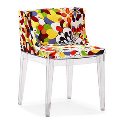 ZUO MODERN - Pizzaro Dining Chair Multicolor (set of 2) - People will go wild over the Pizzaro dining chair's vivid color and style. A funky piece made with a soft cushion seat and polycarbonate base.