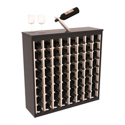 Wine Racks America - Two Tone 64 Bottle Deluxe Wine Rack in Pine, Black and White Stain + Satin - Styled to appear as wine rack furniture, this wooden wine rack will match existing decor while storing 64 bottles of wine. Designed to look like a freestanding wine cabinet, the solid top and sides promote the cool and dark storage area necessary for aging wine properly. Your satisfaction and our racks are guaranteed. All Two-Tone racks include a professional grade eco-friendly satin finish and come with a free matching magic bottle balancer.