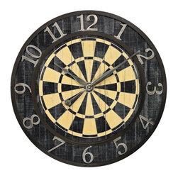 Sterling Industries - Dart Board Wall Clock - Dart Board Wall Clock