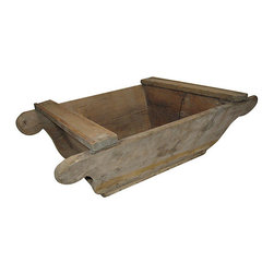Primitive European Trough - This rustic pine piece makes a charming addition to your farmhouse decor. Filled with plants, firewood or anything else you choose, it's a functional antique you'll have the pleasure of using every day.