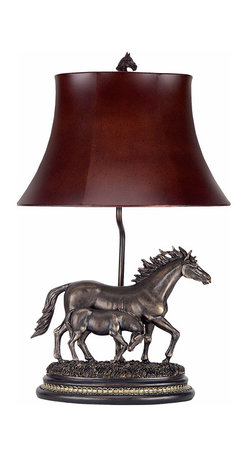 Cal Lighting - Cal Lighting BO-517 100 W Mare & Sibling  Table Lamp - 100W Mare & Sibling Table Lamp