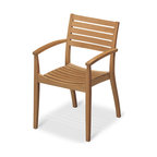 Skagerak Denmark - Ballare Chair - Teak - Stylish and stackable, this pretty teak Jacob Berg–designed chair is simply elegant. Comfortably contoured and effortlessly chic, it's perfect anywhere you put it, inside or out.