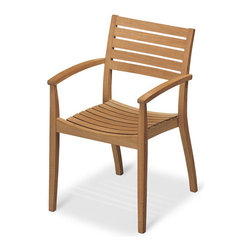 Skagerak Denmark - Ballare Chair, Teak - Stylish and stackable, this pretty teak Jacob Berg–designed chair is simply elegant. Comfortably contoured and effortlessly chic, it's perfect anywhere you put it, inside or out.