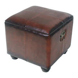International Caravan - International Caravan Carmel Square Ottoman Trunk with Lid in Brown - International Caravan - Ottomans - YWLF2188BR - For over 44 years International Caravan has been one of the leaders in quality outdoor and indoor furniture. Using only the finest materials they bring skill craftsmanship and complete dedication to those who enjoy their furniture. You cannot go wrong with any of International Caravan's beautifully constructed pieces of furniture that are sure to be a focal point inside or outside of your home for years to come.
