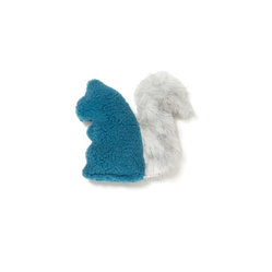 West Paw Design - Sequoia Squirrel dog toy in Blue Spruce color option - A little squirrelly, perhaps, but tough as nails. Don't let the cute façade fool you; this dog toy is made of stronger stuff than your average pretty plaything.
