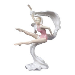 US - 9.5 Inch Porcelain Figureine Girl Gymnast in Pink Tumbling wSash - This gorgeous 9.5 Inch Porcelain Figureine Girl Gymnast in Pink Tumbling wSash  has the finest details and highest quality you will find anywhere! 9.5 Inch Porcelain Figureine Girl Gymnast in Pink Tumbling wSash  is truly remarkable.