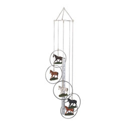 GSC - Wind Chime 5-Ring Polyresin Charm Horse Hanging Garden Decoration - This gorgeous Wind Chime 5-Ring Polyresin Charm Horse Hanging Garden Decoration has the finest details and highest quality you will find anywhere! Wind Chime 5-Ring Polyresin Charm Horse Hanging Garden Decoration is truly remarkable.