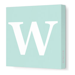 "Avalisa - Letter - Upper Case 'W' Stretched Wall Art, 28"" x 28"", Sea Green - Spell it out loud. These uppercase letters on stretched canvas would look wonderful in a nursery touting your little one's name, but don't stop there; they could work most anywhere in the home you'd like to add some playful text to the walls. Mix and match colors for a truly fun feel or stick to one color for a more uniform look."