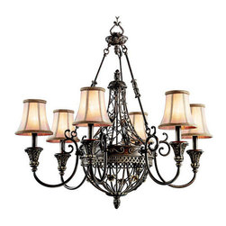 "Kichler - Kichler 42227TRZ Marchesa Single-Tier Cage Chandelier w/6 Lights - 72"" Chain - Kichler 42227 Marchesa Chandelier"