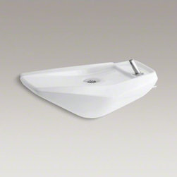 KOHLER - KOHLER Serra(TM) wall-mounted drinking fountain - The Serra drinking fountain offers a streamlined, wall-mount design suitable for users of all capabilities, and is available in a palette of KOHLER colors to complement any d�cor. Lead time is six weeks.