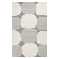 Jaipur Rugs - Jaipur Rugs Hand-Tufted Looped & Cut Wool Gray/Ivory Area Rug, 5 x 8ft - An urban contemporary styled rug collection that updates your living area with bold patterns. Ranging from soft neutrals to strong colors these rugs could live in any home.