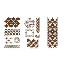 Martha Stewart Crafts Arabesque Laser-Cut Stencils - Have the DIY itch? Add a personal touch to any item in your home with these stencils. Redesign desks, lampshades, dressers, frames, curtains, coasters, wrapping paper, etc. Seriously, the world is your oyster.