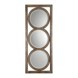 Uttermost - Uttermost 13533 B Isandro Metal Mirror In Silver - Made of hand forged metal, this frame features and open design that allows wall color to show thru and is finished in silver undertones with a black-gray wash and burnished edges. Mirrors are beveled. May be hung either horizontal or vertical.