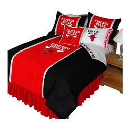Store51 LLC - NBA Chicago Bulls Bedding Set Basketball Bed, Queen - Features: