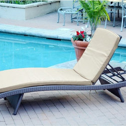 Jeco - Jeco Wicker Adjustable Chaise Lounge - WL-1_CL1-FS006 - Shop for Chaise Lounges from Hayneedle.com! Blending a traditional look with modern curves the stylish Jeco Wicker Adjustable Chaise Lounge is made to contour the body and is hand-crafted with wicker fiber that's made to withstand any season. Constructed with a steel-frame it's also very durable. The piece comes with a two-inch back and seat cushions. About Jeco Inc.Whether it's a timeless traditional design you're looking for or something more modern and contemporary Jeco Inc. likely has something to suit your relaxation needs. Offering numerous types of patio furniture indoor furniture water fountains home decor and pet products the company formed in 2009 works with designers that search the world for inspiration and create innovative yet functional products that are built with quality and durability.