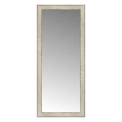 """Posters 2 Prints, LLC - 17"""" x 39"""" Libretto Antique Silver Custom Framed Mirror - 17"""" x 39"""" Custom Framed Mirror made by Posters 2 Prints. Standard glass with unrivaled selection of crafted mirror frames.  Protected with category II safety backing to keep glass fragments together should the mirror be accidentally broken.  Safe arrival guaranteed.  Made in the United States of America"""