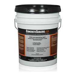 Concrete Sealers USA - CC504 Acid Neutralizing Agent (5 gal.) - Biodegradable & Environmentally Friendly Neutralizing Agent