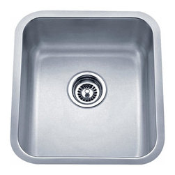 """Wells Sinkware - Wells Sinkware 16"""" Bar Sink Pack - 18 gauge undermount, Type 304 Premium stainless steel, Scratch resistant matte finish, Heavy duty sound absorbent coating & padding, Intelli-Pressed seamless one-piece construction, Drain openings: 3 1/2"""", Drain placement: offset towards back, Mounting hardware included, Flush or 1/4"""" reveal 2-in-1 cutout template, Limited lifetime warranty, Complies with ASMEA 112.19.3-2008/CSA B45.4-08, Package includes: (1) Sink bottom protection grid: DG1315 (1) Basket strainer: S8000"""