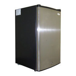 Sunpentown - Upright Freezer with Energy Star,2.8 Cu. Ft.,  Stainless Steel - Compact, flush back design offers 2.8 cu.ft. of storage, perfect for with tight spaces. Reversible doors offer versatility. Features 4 pull out baskets, adjustable thermostat, lock and key