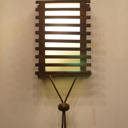Modern Wood shade Wall Sconce -