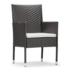 Zuo Modern - Catalan Chair - Enjoy the outdoors in style and comfort. The Catalan chair is perfect for any occasion. This UV treated synthetic weave will stand up to any weather. This chair is resilient and sturdy and has an all aluminum frame which will not rust. To add to style and comfort the seat cushions are made of water resistant covers and foam. Whether it is by the beach or in a garden The Catalan chair is perfect for you.