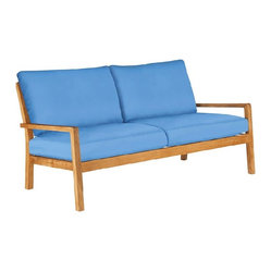 Barlow Tyrie, Avon Teak Three Seater, Sky Blue