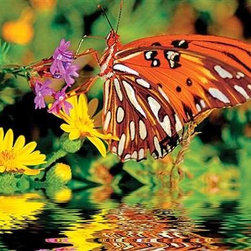 Magnificent Monarch Puzzle - 500 Piece Jigsaw PuzzleA butterfly and summer wildflowers nodding above their rippled reflection makes this puzzle a stunning composition. Bright colors against a softened background only add to challenge and delight this puzzle will bring.