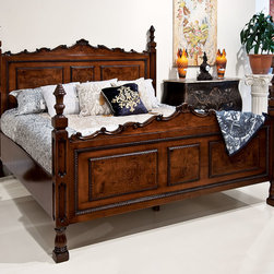 Solid Walnut King Size Bed - BM-411/3 King Size Bed
