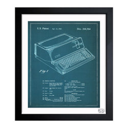 "The Oliver Gal Artist Co. - ''First Apple Personal Computer 1983' 10""x12"" Framed Art - Exclusive blueprints inspired by real vintage patent drawings & illustrations. Handcrafted in the Oliver Gal Artist Co. Studios in Miami, Florida. Produced on matte proofing paper and hand framed by professional framers in a 1.2"" premium black wood frame. Perfect for any interior design project, gifts, office décor, or to add special value to one of your favorite collections."
